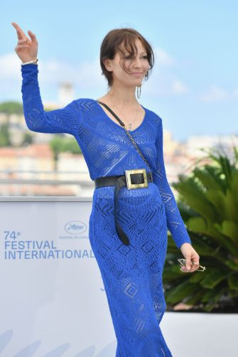 """CANNES, FRANCE - JULY 10: Artistic Director Elena Okopnaya attends the """"Delo/A Residence/House Arrest"""" photocall during the 74th annual Cannes Film Festival on July 10, 2021 in Cannes, France. (Photo by Dominique Charriau/WireImage)"""