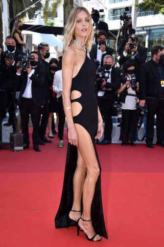"""CANNES, FRANCE - JULY 09: Anja Rubik attends the """"Benedetta"""" screening during the 74th annual Cannes Film Festival on July 09, 2021 in Cannes, France. (Photo by Lionel Hahn/Getty Images)"""