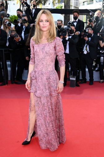 """CANNES, FRANCE - JULY 10: Vanessa Paradis attends the """"De Son Vivant (Peaceful)"""" screening during the 74th annual Cannes Film Festival on July 10, 2021 in Cannes, France. (Photo by Daniele Venturelli/WireImage)"""
