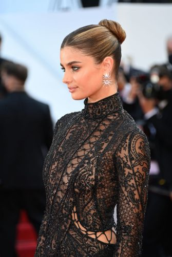 """CANNES, FRANCE - JULY 10: Taylor Hill attends the """"De Son Vivant (Peaceful)"""" screening during the 74th annual Cannes Film Festival on July 10, 2021 in Cannes, France. (Photo by Daniele Venturelli/WireImage)"""