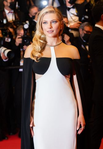 """CANNES, FRANCE - JULY 11:  Katheryn Winnick attends the """"Flag Day"""" photocall during the 74th annual Cannes Film Festival on July 11, 2021 in Cannes, France. (Photo by Samir Hussein/WireImage)"""