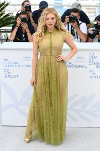 """CANNES, FRANCE - JULY 11: Katheryn Winnick attends the """"Flag Day"""" photocall during the 74th annual Cannes Film Festival on July 11, 2021 in Cannes, France. (Photo by Daniele Venturelli/WireImage)"""