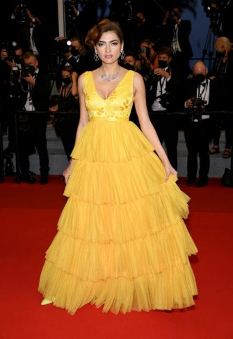 """CANNES, FRANCE - JULY 10:  Blanca Blanco attends the """"Flag Day"""" screening during the 74th annual Cannes Film Festival on July 10, 2021 in Cannes, France. (Photo by Pascal Le Segretain/Getty Images)"""