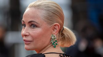 """CANNES, FRANCE - JULY 16: Actress Emmanuelle Beart attends the """"Les Intranquilles (The Restless)"""" screening during the 74th annual Cannes Film Festival on July 16, 2021 in Cannes, France. (Photo by Marc Piasecki/FilmMagic)"""