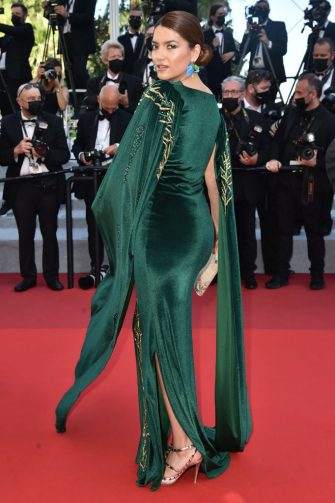"""CANNES, FRANCE - JULY 11: Blanca Blanco attends the """"Tre Piani (Three Floors)"""" screening during the 74th annual Cannes Film Festival on July 11, 2021 in Cannes, France. (Photo by Dominique Charriau/WireImage)"""