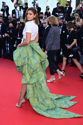 """CANNES, FRANCE - JULY 11: Taylor Hill attends the """"Tre Piani (Three Floors)"""" screening during the 74th annual Cannes Film Festival on July 11, 2021 in Cannes, France. (Photo by Daniele Venturelli/WireImage)"""