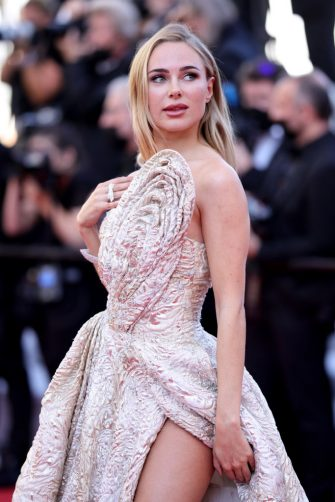 """CANNES, FRANCE - JULY 11: Kimberley Garner attends the """"Tre Piani (Three Floors)"""" screening during the 74th annual Cannes Film Festival on July 11, 2021 in Cannes, France. (Photo by Andreas Rentz/Getty Images)"""