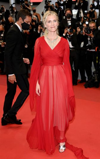 """CANNES, FRANCE - JULY 10: Melanie Laurent attends the """"Flag Day"""" screening during the 74th annual Cannes Film Festival on July 10, 2021 in Cannes, France. (Photo by Daniele Venturelli/WireImage)"""