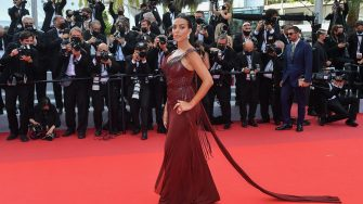 """CANNES, FRANCE - JULY 15: Georgina Rodriguez  attends the """"France"""" screening during the 74th annual Cannes Film Festival on July 15, 2021 in Cannes, France. (Photo by Stephane Cardinale - Corbis/Corbis via Getty Images)"""