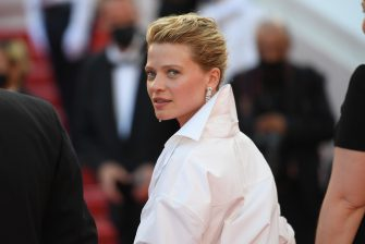 """CANNES, FRANCE - JULY 17: Melanie Thierry attends the final screening of """"OSS 117: From Africa With Love"""" and closing ceremony during the 74th annual Cannes Film Festival on July 17, 2021 in Cannes, France. (Photo by Stephane Cardinale - Corbis/Corbis via Getty Images)"""