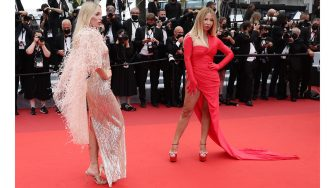 """CANNES, FRANCE - JULY 16: Guests attend the """"Les Intranquilles (The Restless)"""" screening during the 74th annual Cannes Film Festival on July 16, 2021 in Cannes, France. (Photo by Vittorio Zunino Celotto/Getty Images for Kering)"""