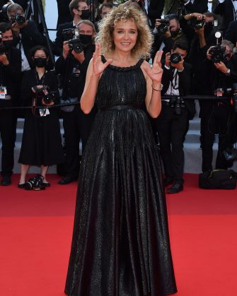 """CANNES, FRANCE - JULY 17: Valeria Golino attends the final screening of """"OSS 117: From Africa With Love"""" and closing ceremony during the 74th annual Cannes Film Festival on July 17, 2021 in Cannes, France. (Photo by Stephane Cardinale - Corbis/Corbis via Getty Images)"""