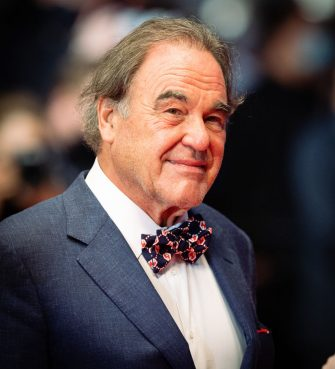 """CANNES, FRANCE - JULY 11: Oliver Stone attends the """"Flag Day"""" photocall during the 74th annual Cannes Film Festival on July 11, 2021 in Cannes, France. (Photo by Samir Hussein/WireImage)"""