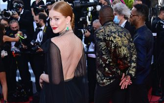 """CANNES, FRANCE - JULY 11: Marina Ruy Barbosa attends the """"Tre Piani (Three Floors)"""" screening during the 74th annual Cannes Film Festival on July 11, 2021 in Cannes, France. (Photo by Daniele Venturelli/WireImage)"""