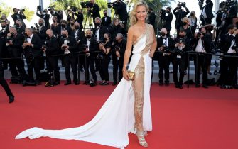 """CANNES, FRANCE - JULY 11: Lady Victoria Hervey attends the """"Tre Piani (Three Floors)"""" screening during the 74th annual Cannes Film Festival on July 11, 2021 in Cannes, France. (Photo by Pascal Le Segretain/Getty Images)"""