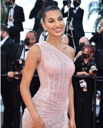 """CANNES, FRANCE - JULY 14: Chiara Sampaio attends the """"A Felesegam Tortenete/The Story Of My Wife"""" screening during the 74th annual Cannes Film Festival on July 14, 2021 in Cannes, France. (Photo by Dominique Charriau/WireImage)"""
