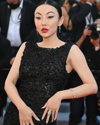 """CANNES, FRANCE - JULY 14: Jessica Wang attends the """"A Felesegam Tortenete/The Story Of My Wife"""" screening during the 74th annual Cannes Film Festival on July 14, 2021 in Cannes, France. (Photo by Pascal Le Segretain/Getty Images)"""