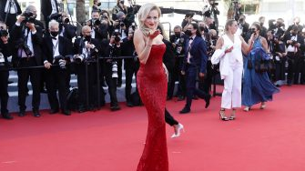"""CANNES, FRANCE - JULY 14: Rose Bertram attends the """"A Felesegam Tortenete/The Story Of My Wife"""" screening during the 74th annual Cannes Film Festival on July 14, 2021 in Cannes, France. (Photo by Vittorio Zunino Celotto/Getty Images for Kering)"""