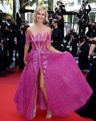 """CANNES, FRANCE - JULY 14: Lady Victoria Hervey attends the """"A Felesegam Tortenete/The Story Of My Wife"""" screening during the 74th annual Cannes Film Festival on July 14, 2021 in Cannes, France. (Photo by Daniele Venturelli/WireImage)"""