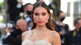 """CANNES, FRANCE - JULY 14: Hana Cross attends the """"A Felesegam Tortenete/The Story Of My Wife"""" screening during the 74th annual Cannes Film Festival on July 14, 2021 in Cannes, France. (Photo by Stephane Cardinale - Corbis/Corbis via Getty Images)"""