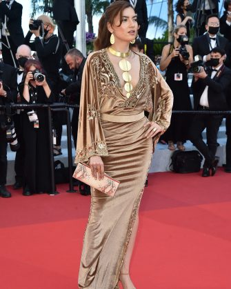 """CANNES, FRANCE - JULY 14: Blanca Blanco attends the """"A Felesegam Tortenete/The Story Of My Wife"""" screening during the 74th annual Cannes Film Festival on July 14, 2021 in Cannes, France. (Photo by Dominique Charriau/WireImage)"""