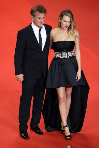 """CANNES, FRANCE - JULY 10: Sean Penn and Dylan Penn attend the """"Flag Day"""" screening during the 74th annual Cannes Film Festival on July 10, 2021 in Cannes, France. (Photo by Andreas Rentz/Getty Images)"""
