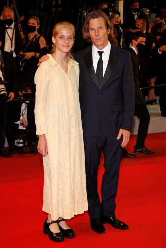 CANNES, FRANCE - JULY 10, 2021: Danny Moder and daughter Hazel Moder arrive at the premiere of 'Flag Day' during the 74th Cannes Film Festival held at the Palais des Festivals in Cannes, France. (Photo credit should read P. Lehman/Barcroft Media via Getty Images)