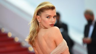 """CANNES, FRANCE - JULY 15: Stella Maxwell attends the """"France"""" screening during the 74th annual Cannes Film Festival on July 15, 2021 in Cannes, France. (Photo by Stephane Cardinale - Corbis/Corbis via Getty Images)"""