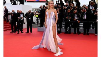"""CANNES, FRANCE - JULY 15: Kimberley Garner attends the """"France"""" screening during the 74th annual Cannes Film Festival on July 15, 2021 in Cannes, France. (Photo by Kate Green/Getty Images)"""
