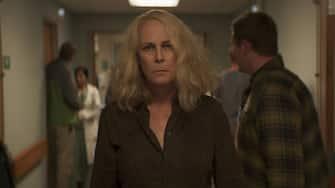 Laurie Strode (Jamie Lee Curtis) in Halloween Kills, directed by David Gordon Green