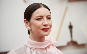 Caitriona Balfe arrives on the red carpet of The 92nd Oscars® at the Dolby® Theatre in Hollywood, CA on Sunday, February 9, 2020.