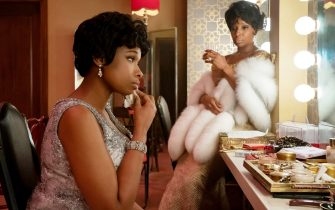 USA. Mary J. Blige and Jennifer Hudson in the (C)MGM new movie: Respect (2021).  Plot: The life story of legendary R&B singer, Aretha Franklin.  Ref: LMK106-J7172-100621  Supplied by LMKMEDIA. Editorial Only. Landmark Media is not the copyright owner of these Film or TV stills but provides a service only for recognised Media outlets. pictures@lmkmedia.com