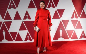 Olivia Colman arrives at a screening of the Oscars on Monday, April 26, 2021 in London., Credit:DJ / Avalon