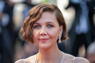 """CANNES, FRANCE - JULY 17: Actress Maggie Gyllenhaal attends the final screening of """"OSS 117: From Africa With Love"""" and closing ceremony during the 74th annual Cannes Film Festival on July 17, 2021 in Cannes, France. (Photo by Marc Piasecki/FilmMagic)"""