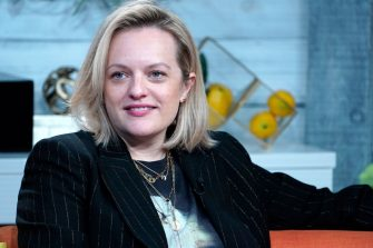 """NEW YORK, NEW YORK - FEBRUARY 27: (EXCLUSIVE COVERAGE) Elisabeth Moss visits BuzzFeed's """"AM To DM"""" on February 27, 2020 in New York City. (Photo by John Lamparski/Getty Images)"""