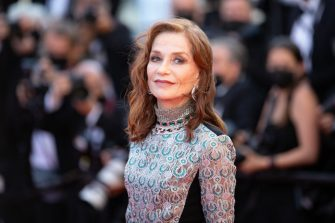 """CANNES, FRANCE - JULY 13: Actress Isabelle Huppert attends the """"Aline, The Voice Of Love"""" screening during the 74th annual Cannes Film Festival on July 13, 2021 in Cannes, France. (Photo by Marc Piasecki/FilmMagic)"""