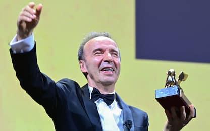 Festival di Venezia, Benigni premiato con il Leone d'oro alla carriera