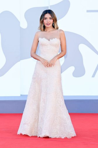 """VENICE, ITALY - SEPTEMBER 01: Festival patroness Serena Rossi  attends the red carpet of the movie """"Madres Paralelas"""" during the 78th Venice International Film Festival on September 01, 2021 in Venice, Italy. (Photo by Daniele Venturelli/WireImage)"""