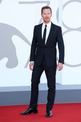 """VENICE, ITALY - SEPTEMBER 02: Benedict Cumberbatch attends the red carpet of the movie """"The Power Of The Dog"""" during the 78th Venice International Film Festival on September 02, 2021 in Venice, Italy. (Photo by Ernesto Ruscio/Getty Images)"""