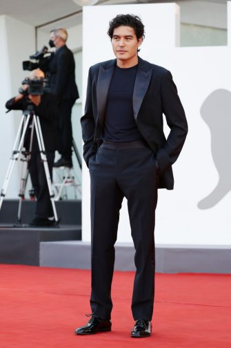 """VENICE, ITALY - SEPTEMBER 02: Cristiano Caccamo attends the red carpet of the movie """"The Hand Of God"""" during the 78th Venice International Film Festival on September 02, 2021 in Venice, Italy. (Photo by Vittorio Zunino Celotto/Getty Images)"""