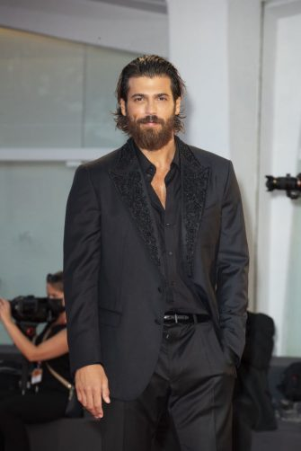 """VENICE, ITALY - SEPTEMBER 05: Turkish actor Can Yaman attends the red carpet of the """"Filming Italy Award"""" during the 78th Venice International Film Festival on September 05, 2021 in Venice, Italy. (Photo by Primo Barol/Anadolu Agency via Getty Images)"""