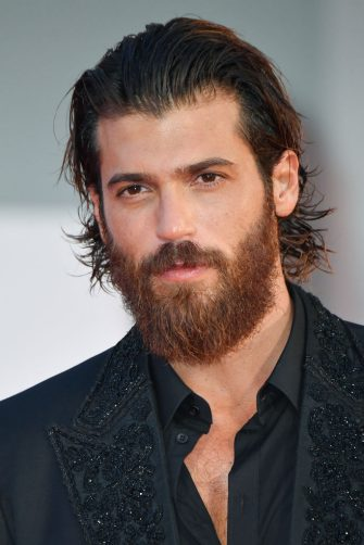 """VENICE, ITALY - SEPTEMBER 05: Can Yaman  attends the red carpet of the """"Filming Italy Award"""" during the 78th Venice International Film Festival on September 05, 2021 in Venice, Italy. (Photo by Stephane Cardinale - Corbis/Corbis via Getty Images)"""