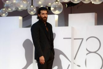Turkish actor Can Yaman arrives within the Filming Italy Award Delegation - Red Carpet on September 5, 2021 during the 78th Venice Film Festival at Venice Lido. (Photo by Filippo MONTEFORTE / AFP) (Photo by FILIPPO MONTEFORTE/AFP via Getty Images)