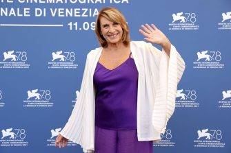 """VENICE, ITALY - SEPTEMBER 09: Paola Pitagora attends the photocall of """"Viaggio Nel Crepuscolo"""" during the 78th Venice International Film Festival on September 09, 2021 in Venice, Italy. (Photo by Marc Piasecki/Getty Images)"""