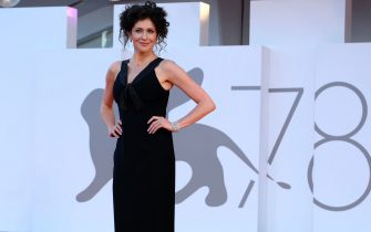 Ksenija Aleksandrovna Rappoport arrives for the premiere of 'America Latina' during the 78th annual Venice International Film Festival, Venice, Italy, 09 September 2021. The movie is presented in the Official competition 'Venezia 78' at the festival running from 01 to 11 September.  ANSA/CLAUDIO ONORATI