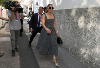 VENICE, ITALY - SEPTEMBER 10: Jennifer Lopez arrives at the 78th Venice International Film Festival on September 10, 2021 in Venice, Italy. (Photo by Marc Piasecki/Getty Images)