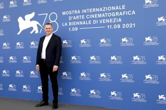 """VENICE, ITALY - SEPTEMBER 10:  Director Oleh Sentsov attends the photocall of """"Nosorih"""" during the 78th Venice International Film Festival on September 10, 2021 in Venice, Italy. (Photo by John Phillips/Getty Images)"""