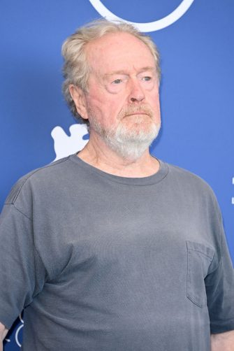 """VENICE, ITALY - SEPTEMBER 10: Director Ridley Scott attends the photocall of """"The Last Duel"""" during the 78th Venice International Film Festival on September 10, 2021 in Venice, Italy. (Photo by Daniele Venturelli/WireImage)"""