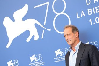 """VENICE, ITALY - SEPTEMBER 10:  Vincent Lindon attends the photocall of """"Un Autre Monde"""" during the 78th Venice International Film Festival on September 10, 2021 in Venice, Italy. (Photo by Vittorio Zunino Celotto/Getty Images)"""