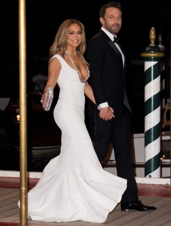 VENICE, ITALY - SEPTEMBER 10: Jennifer Lopez and Ben Affleck arrive at the 78th Venice International Film Festival on September 10, 2021 in Venice, Italy. (Photo by Jacopo Raule/Getty Images)